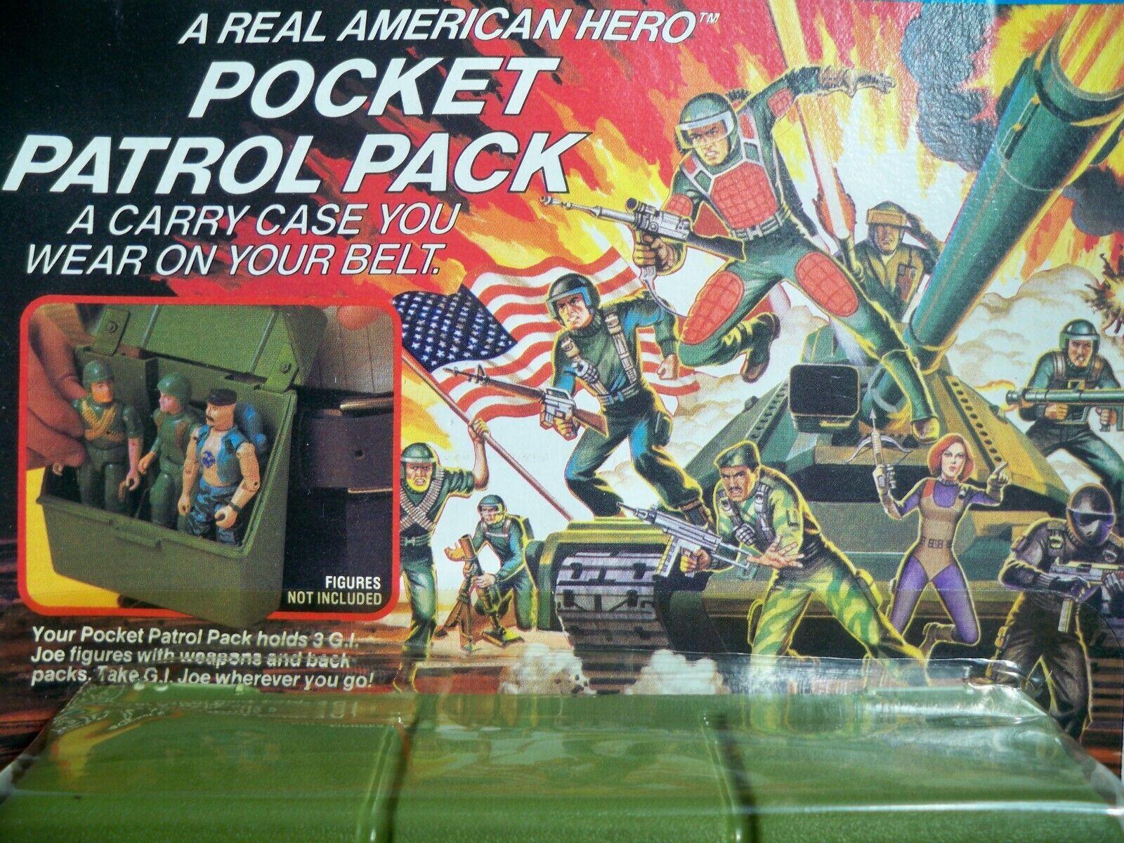 Paquete de patrulla K195138 Pocket MOC menta en tarjeta sellada 1988 Gi Joe Original Vintage