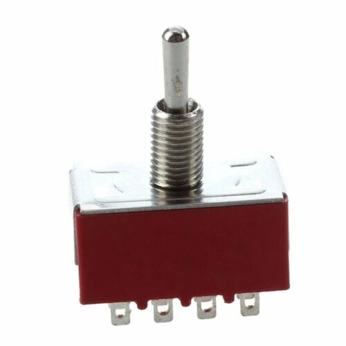 2 Pcs AC 250V 2A 120V 5A 12 Pin 4PDT ON//ON Toggle Switch N6T8