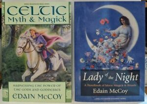 Lot of 2 Witchcraft Wicca Spells Pagan Magick TPB Books Edain McCoy Celtic Moon