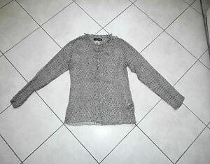 Blouse-Soie-ANTIK-BATIK-t-L-silk-top-chemise-haut