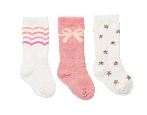 Cheski Baby Girls/' Knee Socks Stay Put on Baby/'s Kicking Legs ~ Pretty 3 Pairs