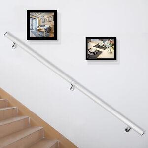 Aluminum-Modern-Handrail-for-Stairs-6ft-Length-White-BRAND-NEW-POPULAR-HOT