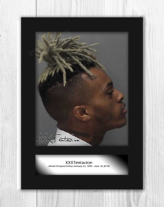 XXXTentacion-2-A4-signed-mounted-photograph-picture-poster-Choice-of-frame
