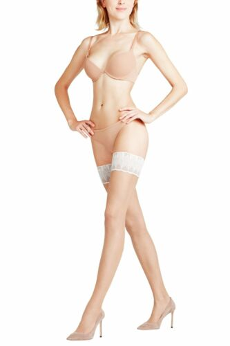 Details about  /Falke Lunelle 8 Lace Top Hold Ups 8 denier small to Large various colours