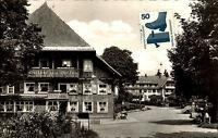 Saig Schwarzwald Strassen Partie Gasthof Zum Ochsen u, 1960 m. Briefmarke vorne
