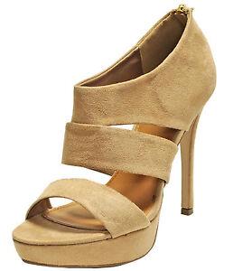 New-women-039-s-shoes-fashion-dress-sandals-stilettos-high-heel-back-zipper-beige