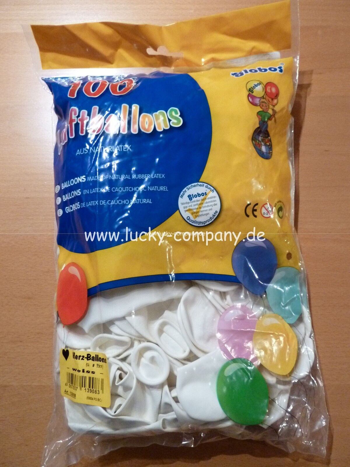 300 grosse weisse HERZBALLONS HERZ-LUFTBALLONS - Hochzeit - Ballons  FREI HAUS