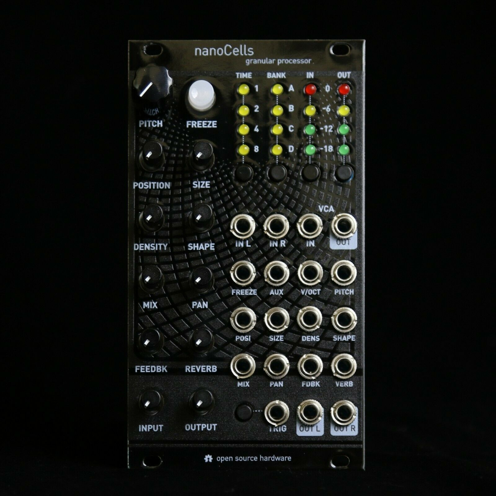 NanoCell Microcell uCell Mutable Clouds Supercell Eurorack Synth Modul Schwarz