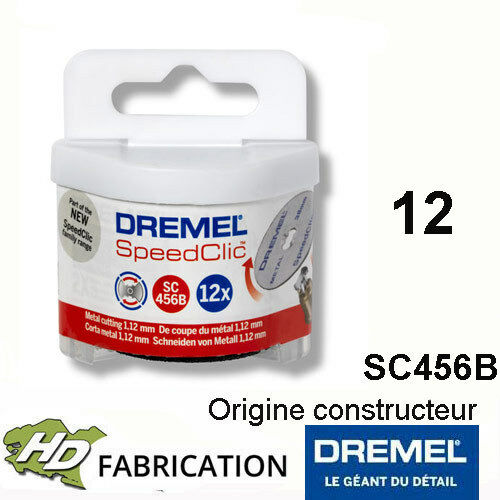 Dremel SC456B 12 Disques EZ speedclic métaux 38 mm