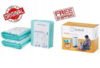 Korbell Nappy Disposal Bin Refill Liners Compatible Fit For 15 /& 16 Litre Bins