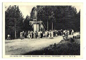 Villaggio-Mancuso-viaggiata-per-Crotone-nel-1938-2214-E-francobollo-asportat