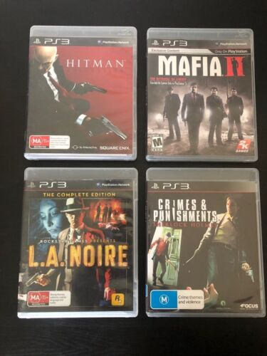 Crime Bundle Sony Playstation 3 Hitman Absolution; Mafia 2; LA Noire; Holmes