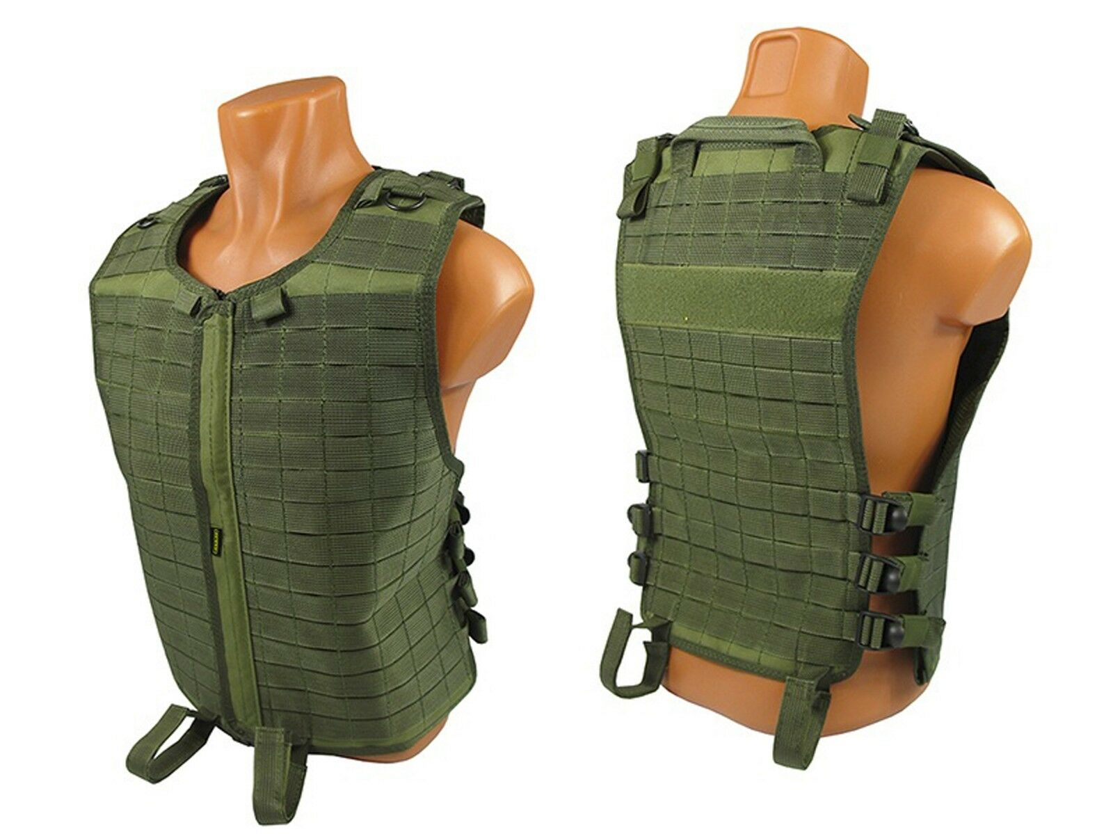 Tactical Modular Vest army paintball olive airsoft chest rig green molle pals od