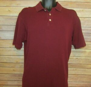 Tommy-Bahama-Polo-Shirt-Size-Medium-Mens-Red-Short-Sleeve-Silk-Blend-Golf-S-S