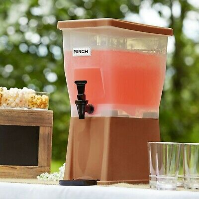 Choice 3 Gallon Brown Plastic Iced Tea Punch Juice Beverage Dispenser