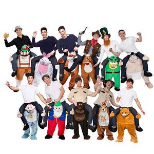 Mens-Shoulder-Ride-Fancy-Dress-Costume-Mascot-Magical-Great-High-Praise-Wonder