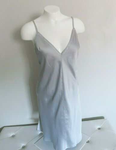 Details about  /$80 Victorias Secret Dream Angels Satin /& Rhinestone Slip Dress Champagne M NEW