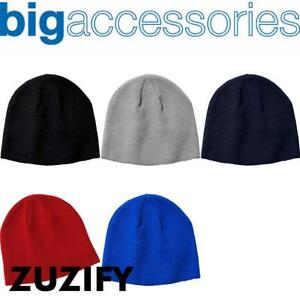4f6e546f86f6c8 Image is loading Big-Accessories-Solid-Knit-Beanie-BX026