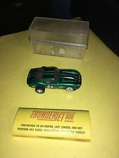 AURORA VINTAGE SLOT CAR HO SCALE CANDY GREEN STRIPES Thunderjet 500 #1394 W Box