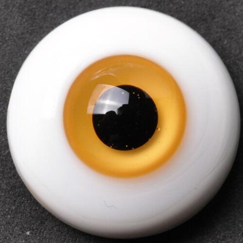 Nice thin FlatBack light Brown Iris Glass 22MM BJD Eyes for Reborn BJD Doll