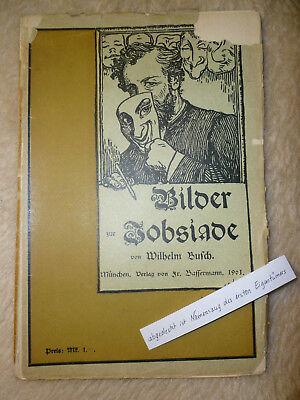 Wilhem Busch 'bilder Der Jobsiade' Taschenbuch 1901 Allgemeine Kurzgeschichten