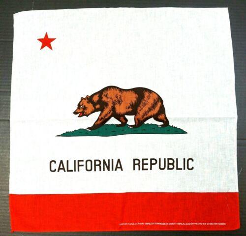 22x22 Bandana Scarf Hankerchief Do Rag Doorag 100/%Cotton California Republic
