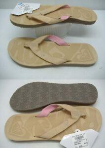 51d8ecf8845e14 New Womens ROXY 6 San O Tan Leather Sandals Shoes  39