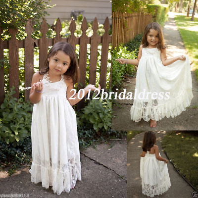 Girl's Easter Junior Bridesmaid Baptism Baby Infant Children Toddler Kids Dress