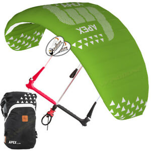 Details about HQ4 Apex 5 5M Depower Foil Kite w HQ One Control Bar & Lines  Kiteboarding Snow