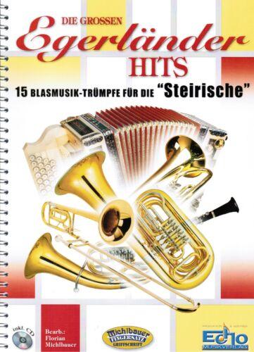 CD mit GRIFFSCHRIFT Steirische Harmonika Noten Die grossen Egerländer Hits m