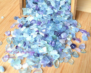 Tumbled-Gemstone-Natural-Crystal-Green-Purple-Fluorite-Chip-Stone-Small-5g