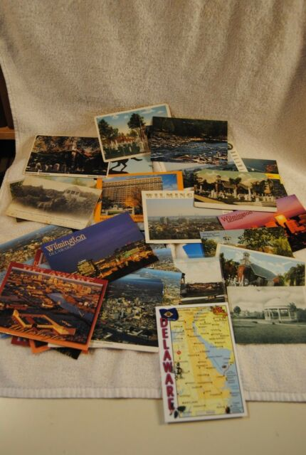 Lot of OVER 50 VINTAGE Delaware Postcards Brandywine  Dover Wilmington DuPont