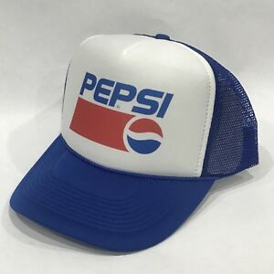 Pepsi Cola Soda Pop Trucker Hat Vintage 90 s Style Mesh Back ... b94fc9644d94