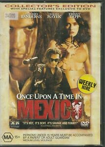 Once-Upon-A-Time-In-Mexico-DVD-2004-Rated-MA-Region-4-PAL-Hayek-Depp-Banderas