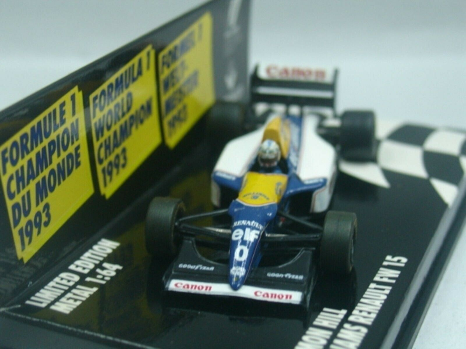 WOW EXTREMELY RARE Williams FW15C  Hill Vice Winner France 1993 1 64 Minichamps
