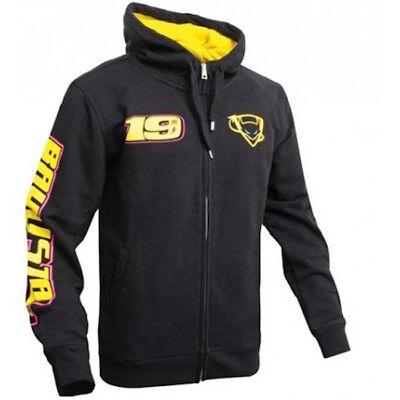ABMFL 705 04 New Official Alvaro Bautista 19 Black Zip Up Hoodie Fleece