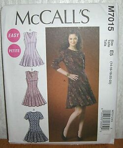 6270ed7e1a Image is loading Womens-Misses-amp-Petite-Flared-Dresses-Sewing-Pattern-