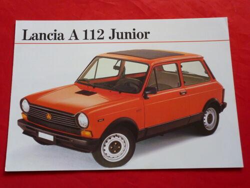 LANCIA A 112 Junior Prospekt Brochure von 1980