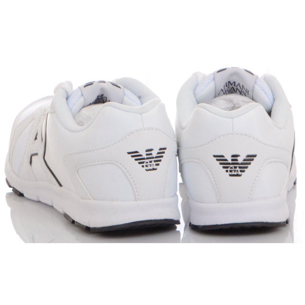 Armani Jeans Mesh Runner Monochrome Mesh Jeans White Trainer 2c88ce