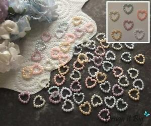 Image Is Loading Pearlescent Bead Hearts 11mm Pearl Craft Embellishments Wedding