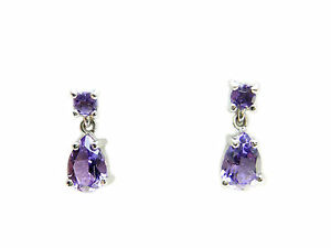 925-Sterling-Silver-purple-Amethyst-drop-earrings