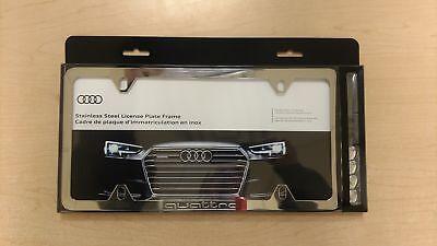 """ZAW071801JZ10 Audi quatto logo plate fram /"""" NEW /"""" OEM POLISHED STAINLESS"""