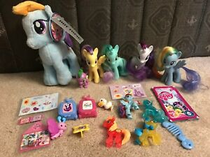My Little Pony Figures Brushable Pony Spike Aurora Plush Stickers Lot Ebay