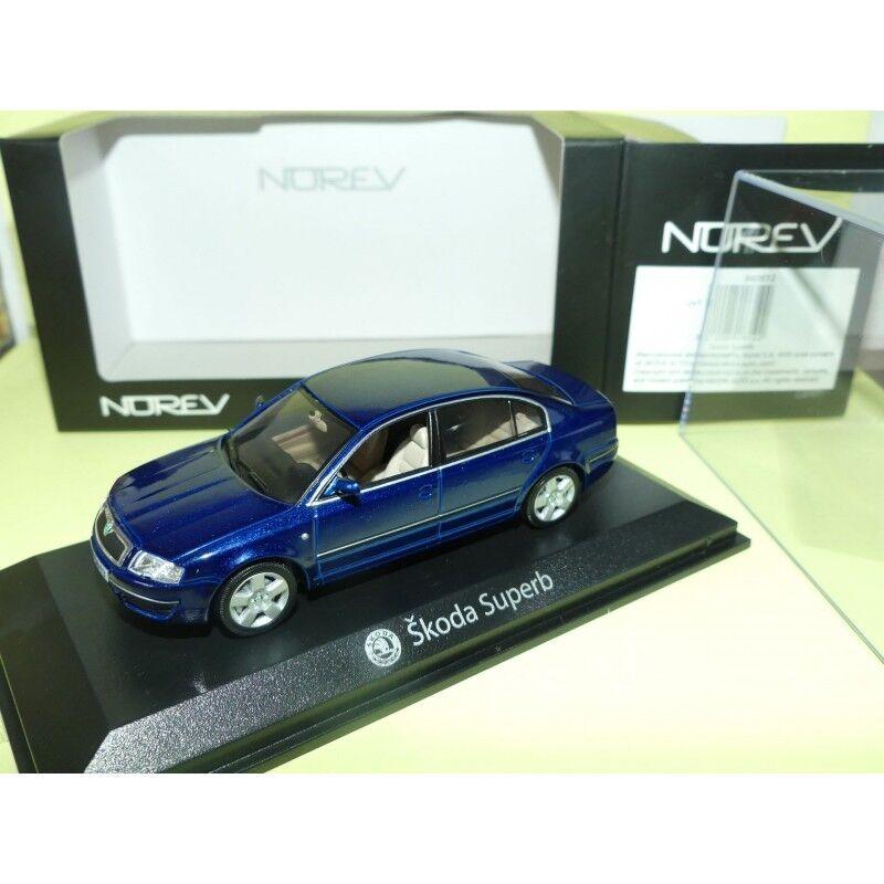 SKODA SUPERB blue NOREV 1 43