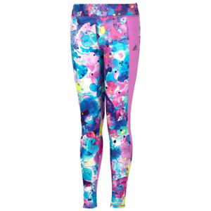 Details about adidas girls Go With The Flow Printed Tights Medium