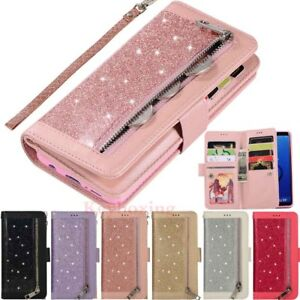 For-Samsung-Galaxy-S7-S8-S9-S10-Note9-Leather-Wallet-Card-Holder-Flip-Case-Cover