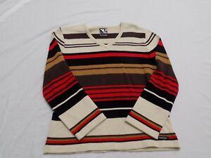 New Vtg 90s Cruel Girl Knit Sweater Shirt Stripes Short Sleeves Jr S M L XL