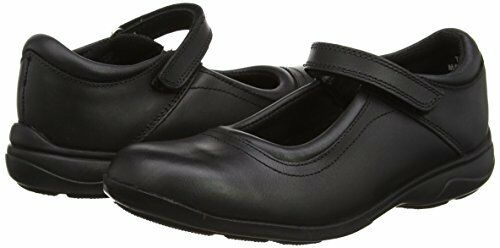 Toughees Girls Leather Single Strap Mary Jane Comfort Insole School Shoes UK12.5