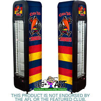 Adelaide Football Club Official Weg Art Crows Skinny Glass Door Upright Fridge
