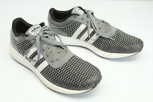 buy popular 62133 3b103 ... Adidas-Cloudfoam-Course-Hommes-12-Baskets-Gris-Zebre-